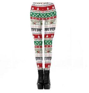8ae3e22f14a94e Women's trousers christmas slm red white green comfortable leggings ...