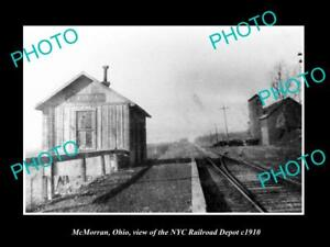 OLD-LARGE-HISTORIC-PHOTO-OF-McMORRAN-OHIO-THE-NYC-RAILROAD-DEPOT-DEPOT-c1910