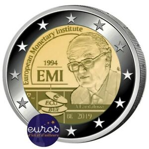 Piece-2-euros-commemorative-BELGIQUE-2019-Institut-Monetaire-Europeen-IME-BU