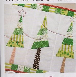 Pattern Yuletide Table Runner Simple Pieced Christmas Pattern
