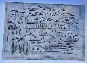 A. Savin - Composition Abstraite - Impressioniste - Non EncadrÉe - N°28
