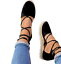 Womens-Ladies-Ankle-Strappy-Flat-Lace-Up-Gladiator-Summer-Sandals-Shoes-Size-Hot thumbnail 4