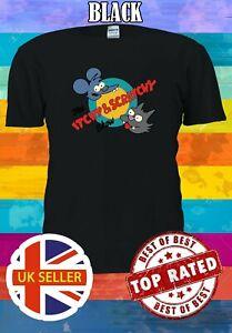 Itchy /& Scratchy Hommes Femmes Unisexe T Shirt T-shirt Débardeur Baseball Sweat à capuche 3431
