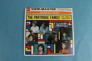 VINTAGE VIEW-MASTER 3D REEL PACKET B569 THE PARTRIDGE FAMILY COMPLETE
