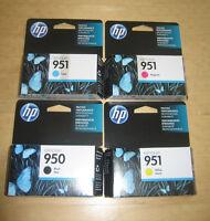 New Retail Genuine HP 950 951 4 Ink Cartridges 8600 8610 8620 8630 251DW 276DW