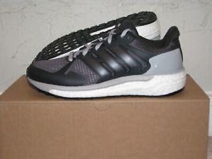 84f4bf1b6 Image is loading adidas-Supernova-ST-Boost-Grey-Black-Womens-Size-