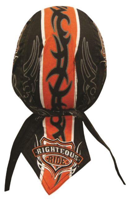 Righteous Ride Bandana Biker Doo Do Rag Head wrap Skull cap Hat Stocking Stuffer