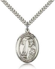 "Saint Elmo Medal For Men - .925 Sterling Silver Necklace On 24"" Chain - 30 Da..."