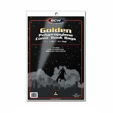 100 BCW Golden Age Comic Book 2-mil Clear Archival Poly Bags 7 5/8 x 10 1/2