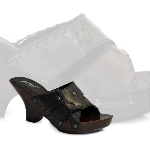 Damen High Heels Neu Schuhe Pumps Schlappen Slipper Pantoletten Sabots @2595x