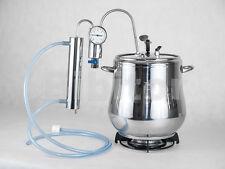 15 LITRI ACCIAIO INOX PENTOLA A PRESSIONE & distillatore ALCOL LIQUORI clandestinamente, Termometro