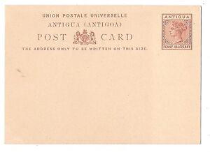 British Antigua Postal Stationery Card 1879 QV 1 1/2p Unused HG 1