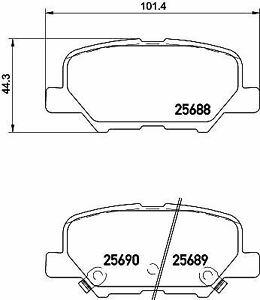 Si adatta Mazda 3 MK3 2.2D Genuine Mintex Pastiglie Freno Anteriore Set