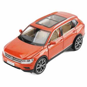 All-New-Tiguan-L-SUV-1-32-Metall-Die-Cast-Modellauto-Spielzeug-Pull-Back-Orange