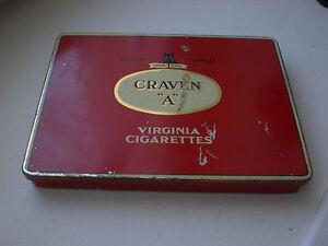 Ancienne bo te de craven a virginia cigarettes tabac en m tal vide ebay - Boite a the metal vide ...