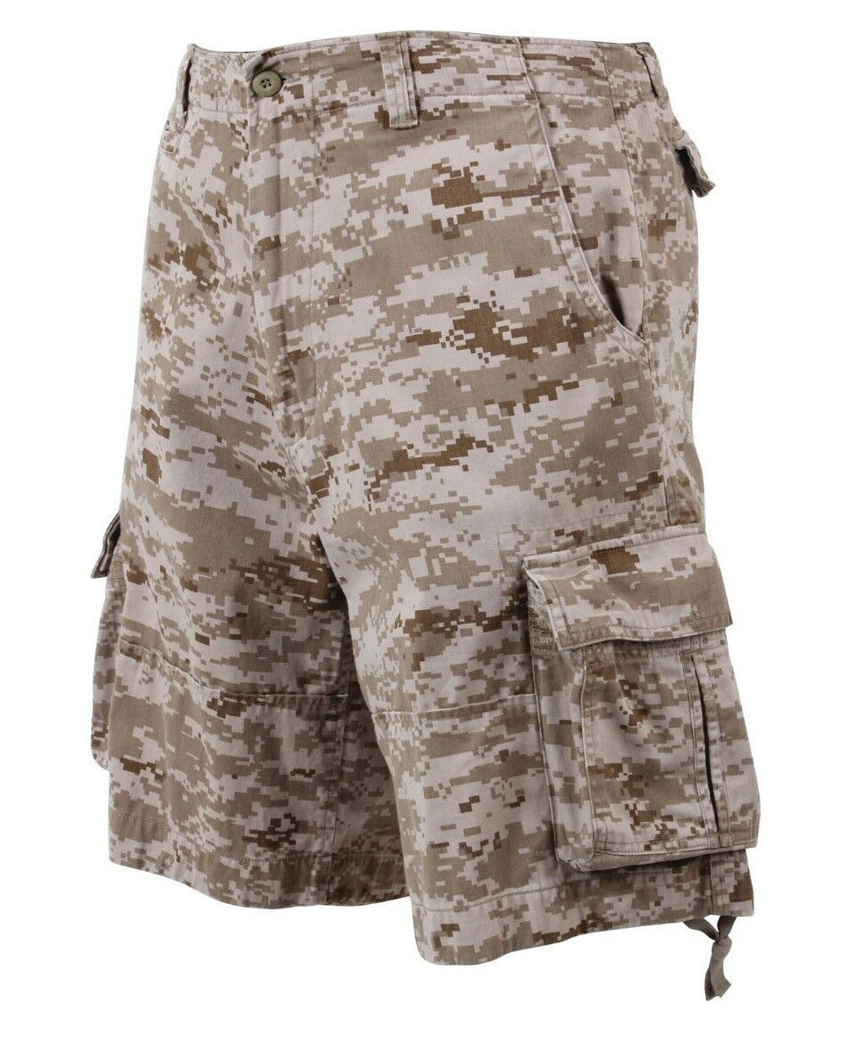 Shorts camo cargo infantry vintage military style desert digital redhco 2760