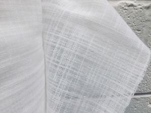 Weiß Inbetween Voile Tüll Organza Stoff Sheer Vorhang Netz 300cm Extra Breit