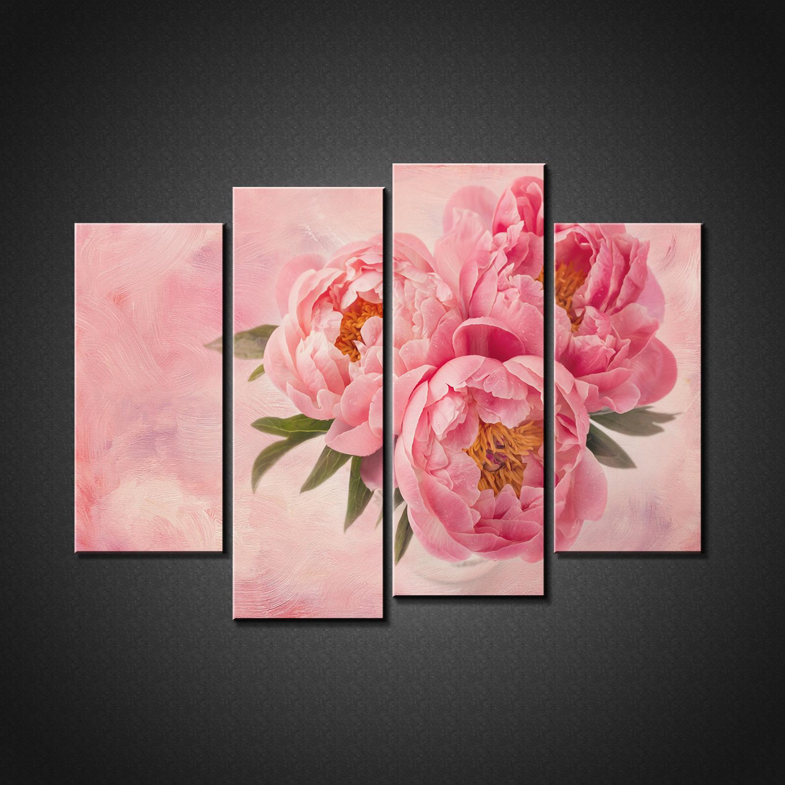 Rose Pivoine flowerscanvas Imprimé Photo Wall Art Home Decor
