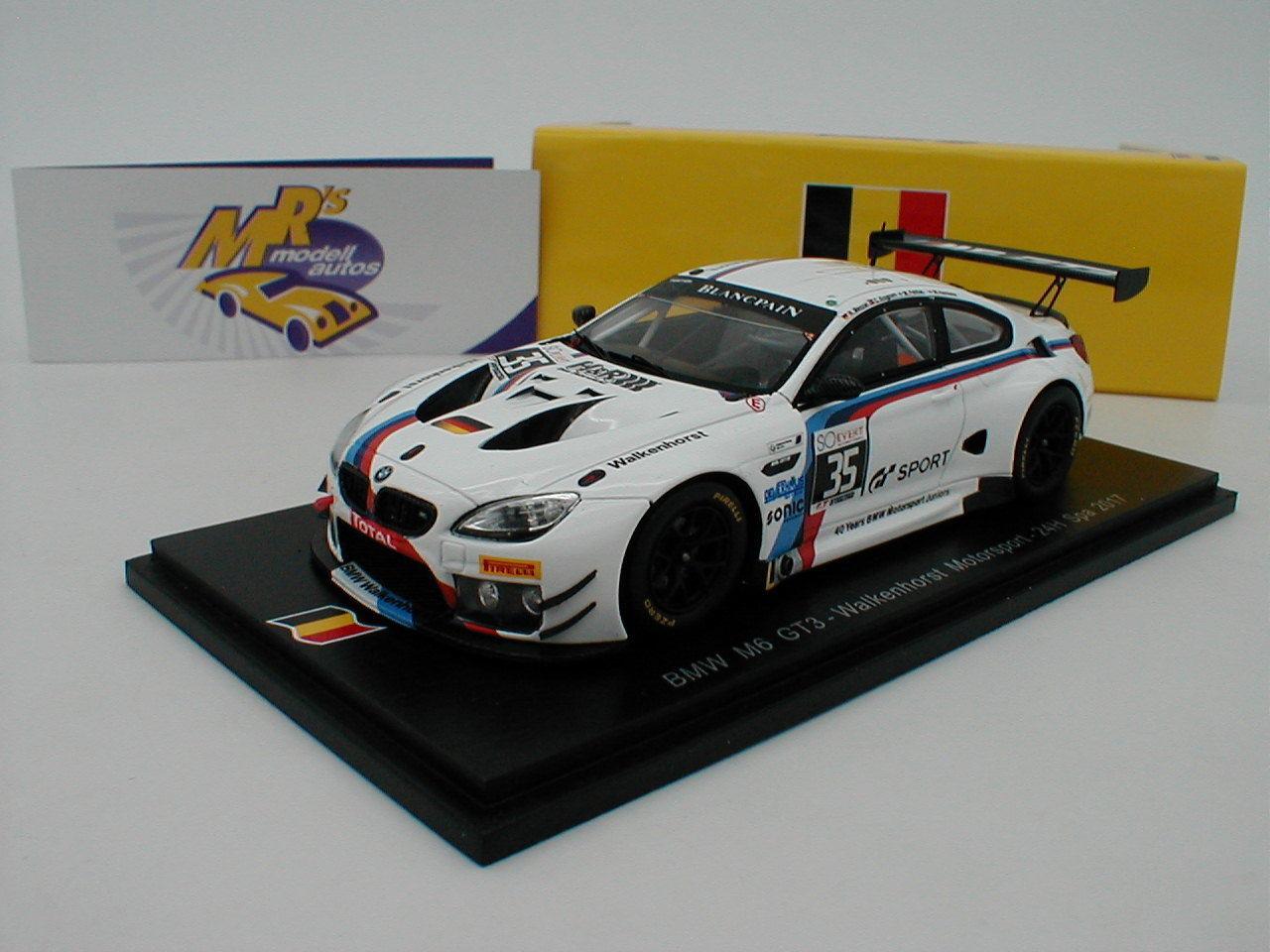 SPARK sb177-BMW m6 gt3 n. 35 24h CORSA SPA 2017  Menzel-krognes  1 43 NUOVO