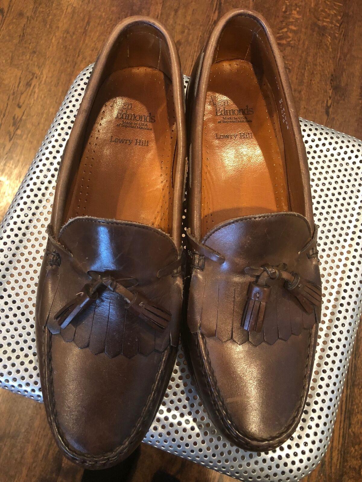 EUC ALLEN EDMONDS Lowry Hill Tassel Loafers SZ 11.5 D Scarpe classiche da uomo