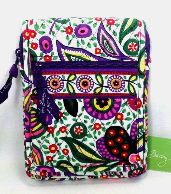 7920d9e4f3 Vera Bradley Viva La Vera Mini Hipster Purse Handbag Cross Body Purple Red  for sale online