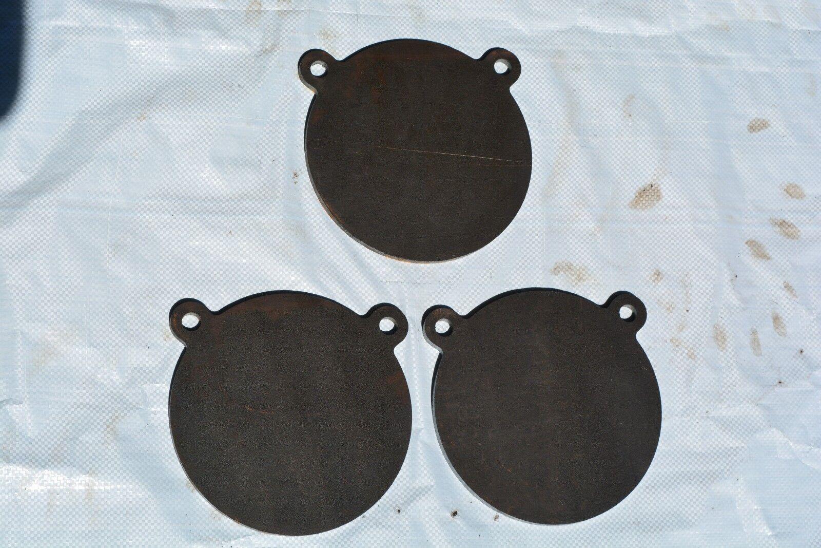 Los objetivos de disparo de acero Gong de AR500, 1 2  X 8  diámetro 3 Piezas Set tgare 002