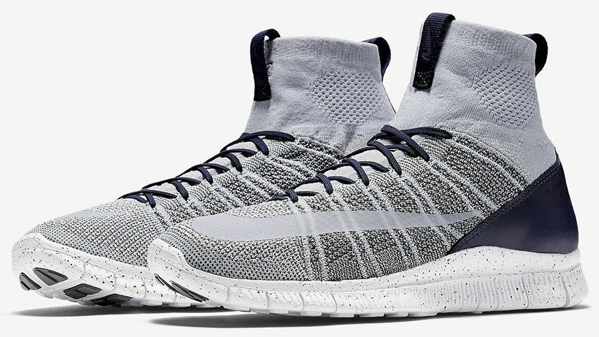 New Sz 12.5 Nike Free Flyknit Mercurial Pure Platinum Superfly SP LAB 805554-001