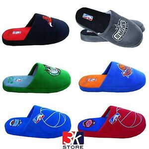 bambino informazioni per scarpe casual Dettagli su Pantofole NBA TEAM BULLS KNICKS SPURS CELTICS WESTERN EASTERN  Ciabatte