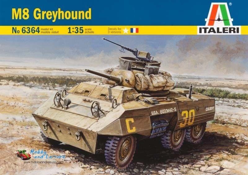 Italeri 6364 M8 Greyhound Scout Car 1 35 Scale Plastic Kit