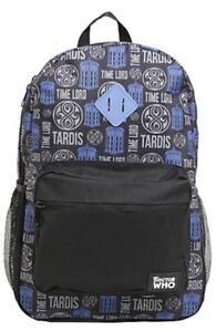 Details About Nwt Bbc Doctor Who Tardis Time Lord Dr School Book Bag Backpack Camp