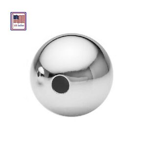 Sterling-Silver-Round-Seamless-Beads-Choose-Size-amp-QTY-1-8-2-2-5-3-4-5-6-7-8-MM