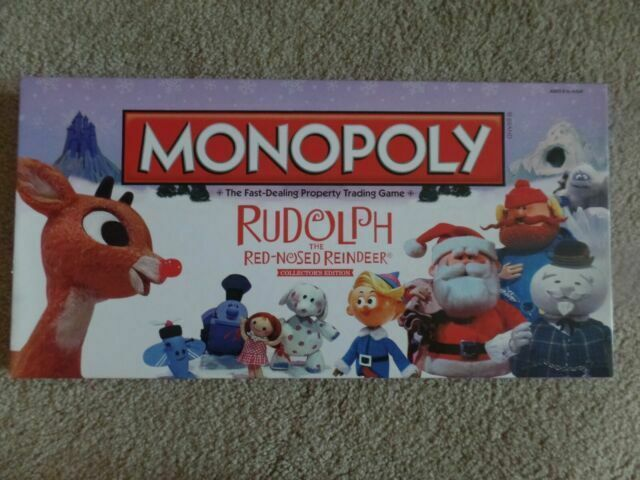 Monopoly Rudolph The Red Nosed Reindeer Collectors Brand New Factory Sealed