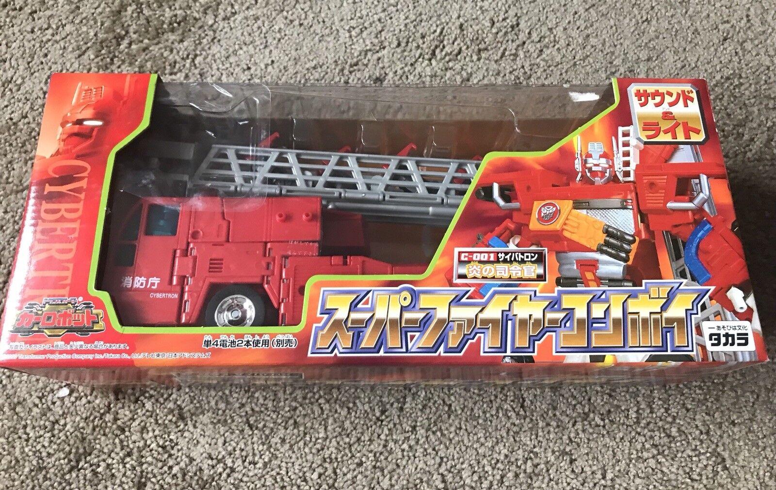Brand new Transformers RID Cybertron C-001 Optimus Prime Super Fire Convoy Rare