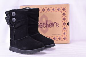 Women-039-s-Skechers-Keepsakes-Freezing-Temps-Boots-Black