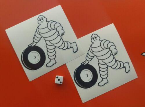 x2 Michelin Man  Stickers Decal 100mm Bibendum  BSB 7-10 year vinly