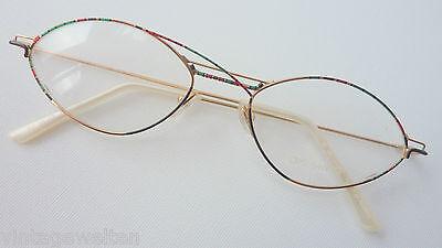 Ars Vivendi Witzige Bunte Damenbrille Viele Details 53-18 Mandelförmig Size M