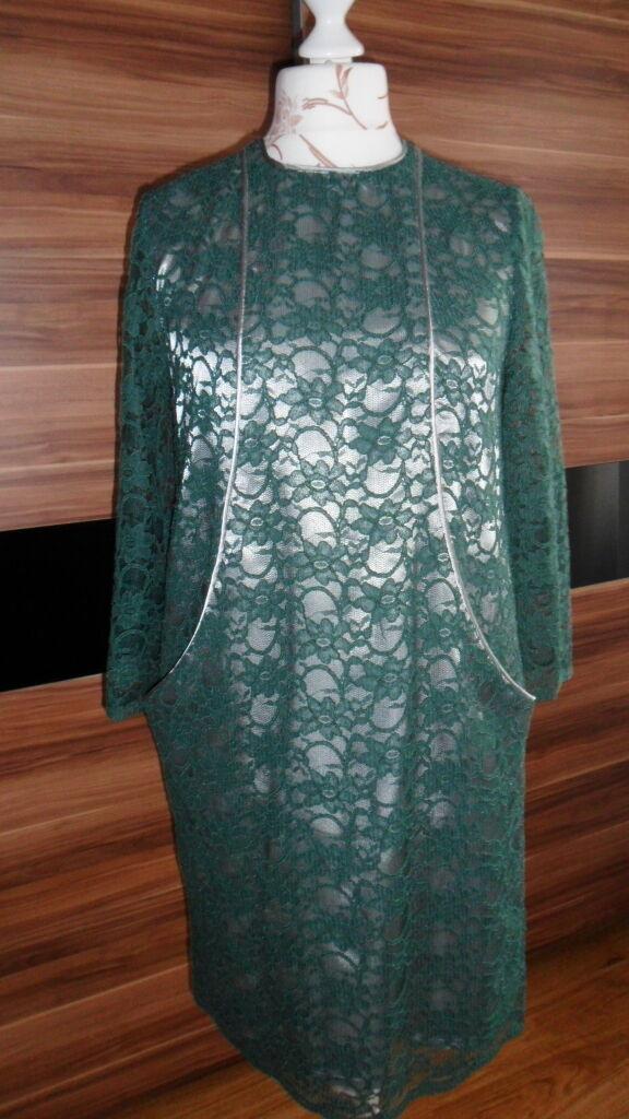 Spitzenkleid , Größe 42 Farbe  grun