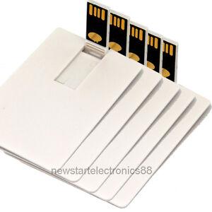 lot 5 2gb 2g credit card usb flash drive blank diy memory. Black Bedroom Furniture Sets. Home Design Ideas