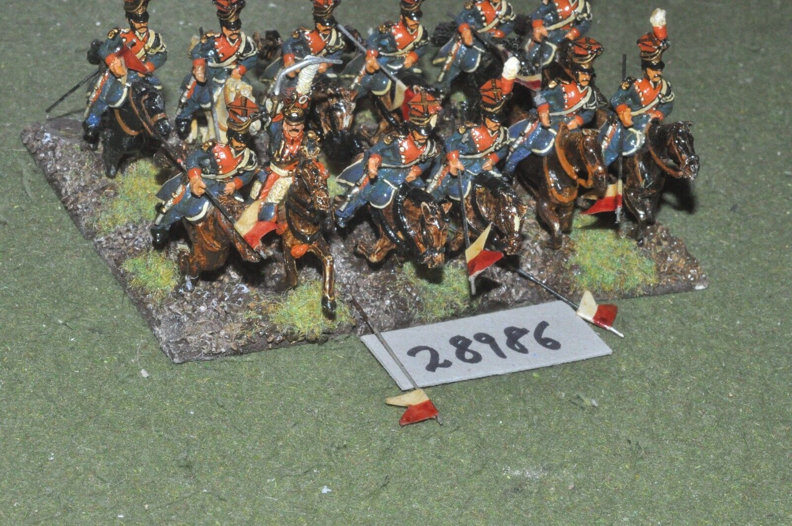 25mm napoleonic     french - polish lancers 12 figures - cav (28986) a4240a