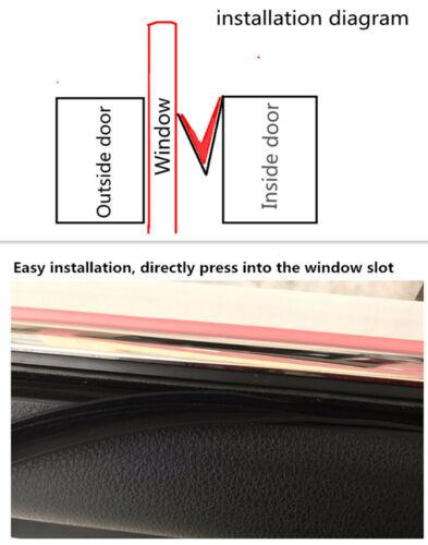 Car Accessories Rubber Soundproof Dustproof Sealing Strip For Auto Side Window