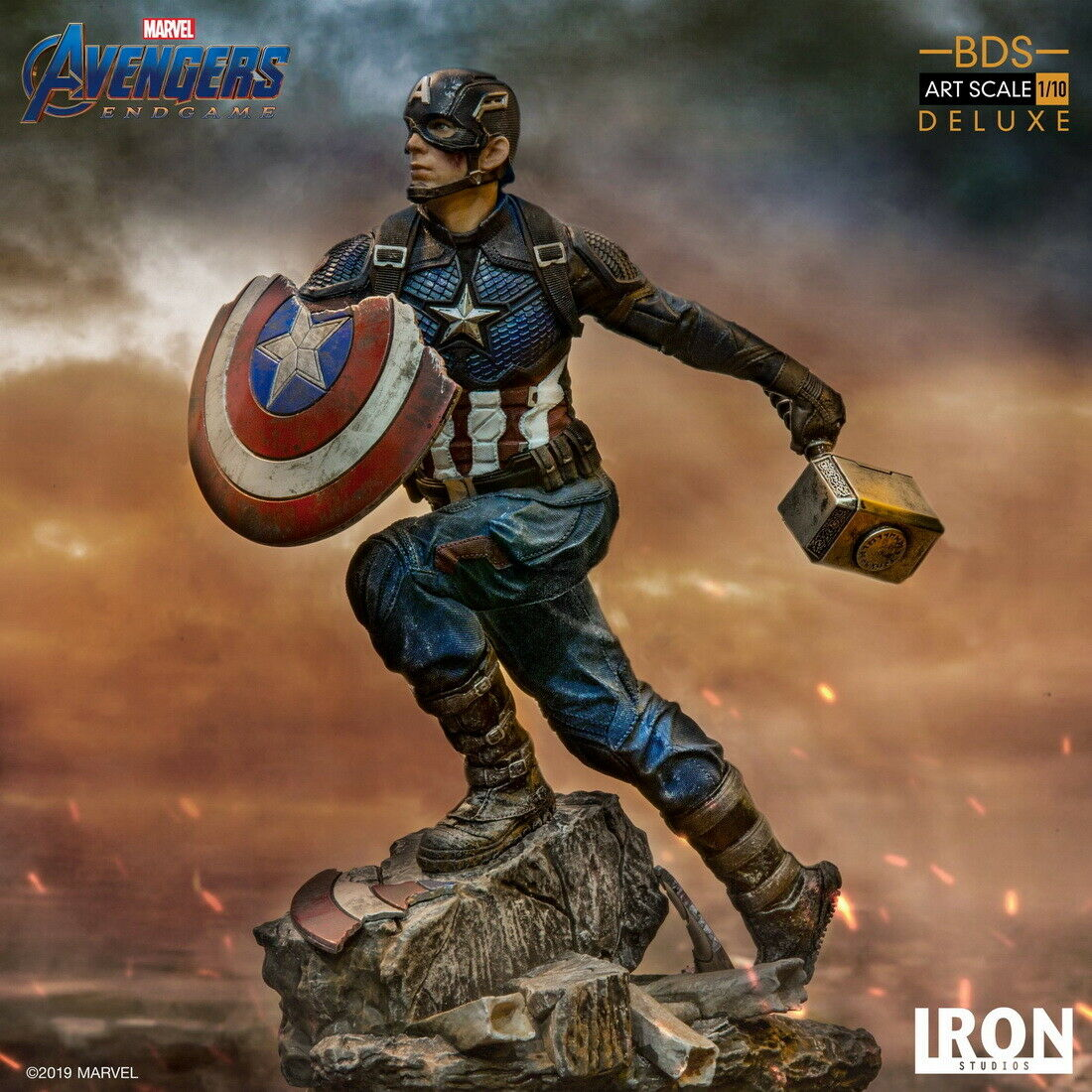 Iron Studios 1  10 Captain America Steve Deluxe BDS Avengers Statue cifra  autorizzazione