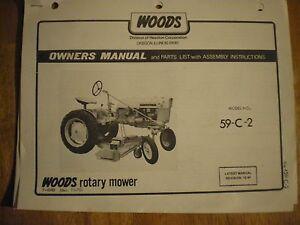 Woods Mower 1250 manual