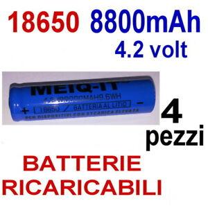 4-x-BATTERIA-18650-4-2V-8800-mAh-RICARICABILE-PILA-TORCIA-AVVITATORE