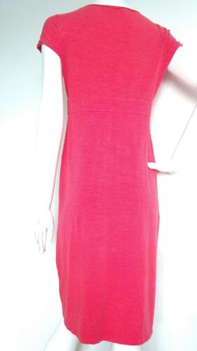 Once used Casual Cap Dress 12l Length Boden Fuchsia Jersey Size Sleeves Knee WdYqwW1X