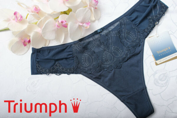 Triumph Stirng   Enchanting Essence String Tanga blau  40 42 44 NEU