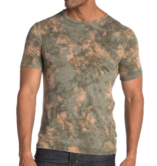 John Varvatos Star USA Men/'s Peace Sign Hand Stitched Graphic Crew T-Shirt Black