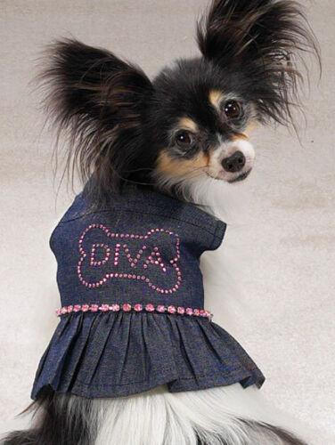 Clearance SASSY DIVA DOG DENIM SUNDRESS