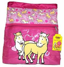 Promo Bugzz Kids Pink Pony School Girls Kit Bag Childrens Swimming Gym PE Bags