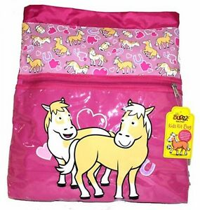 Promo Bugzz Kids Pink Pony School Girls Kit Bag Childrens Swimming Gym PE Bags