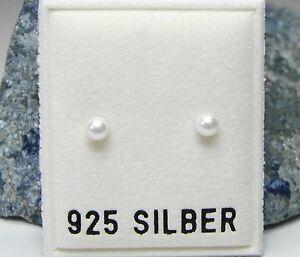 NEU-925-Silber-OHRSTECKER-4mm-PERLEN-in-weiss-PERLENOHRRINGE-OHRRINGE